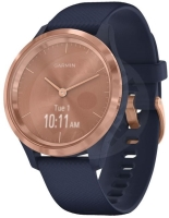 Garmin Vivomove 3S Sport Rose-gold with dark blue band