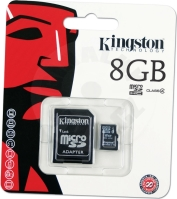 Kingston 8 GB micro SDHC Class 4 Memory card + adaptér