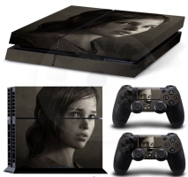 Vinyl cover (stickers) for console - The Last of Us - Ellie (PS4)