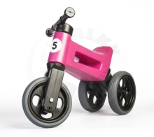 Teddies Bouncer FUNNY WHEELS Rider Sport pink 2in1, saddle height 28 / 30cm load capacity