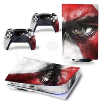 Vinyl cover (stickers) for console - God of War (PS5)