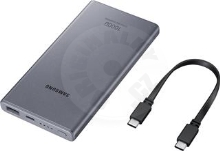 Samsung Power Bank (USB A, Type-C) 25W, 10000mAh -  Dark Gray
