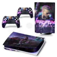 Vinyl cover (stickers) for console - Cyberpunk - M (PS5)