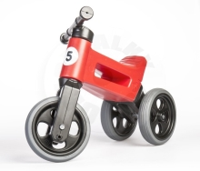 Teddies Bouncer FUNNY WHEELS Rider Sport red 2in1, saddle height 28 / 30cm load capacity 2