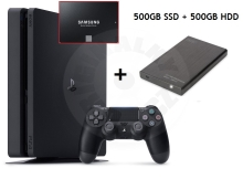 Sony PlayStation 4 Slim 500 GB SSD + externí USB disk 500GB HDD