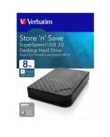 "Verbatim HDD 3.5"" 8 TB USB 3.0 SuperSpeed, černý, GEN2, Green Button (PC/MAC)"