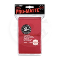 UltraPRO Deck Protector: 100 Sleeves - Matte Red