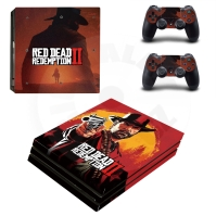 Vinyl cover (stickers) for console - Tomb Raider with bow (PS4)