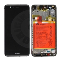 Huawei original LCD and touch layer + frame + battery for P10 Lite - black