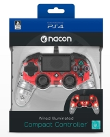 Nacon Wired Compact Controller - transparent red (PS4)
