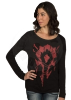 World of Warcraft Sign of the Horde Long Sleeve Women's Tričko - M