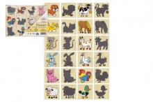 Detoa Memory animals and their shadows wood board game 12pcs in a box 16,5x12,5x1,5cm