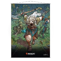 Magic: The Gathering Stained Glass Wall Scroll - Ajani