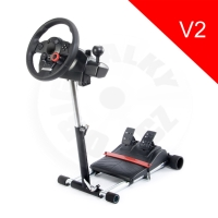 Wheel Stand Pro Deluxe V2, stojan na volant a pedály Log. GT a Thrustmaster F430/T150/TMX
