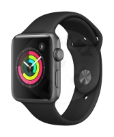 Apple Watch Series 3 42mm - space gray aluminum with black sports strap