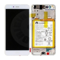 Huawei original LCD and touch layer + frame + battery for P10 Lite - white