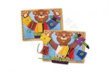 Lowlands Bear insert with different types of fastening wood 40x30cm in foil