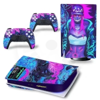Vinyl cover (stickers) for console - Cyberpunk - V (PS5)