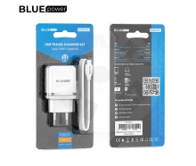 BLUE Power BBA25A -  universal 2x USB charger with USB type C cable