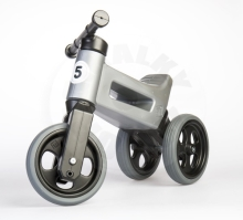 Teddies Bouncer FUNNY WHEELS Rider Sport gray 2in1, saddle height 28 / 30cm load capacity