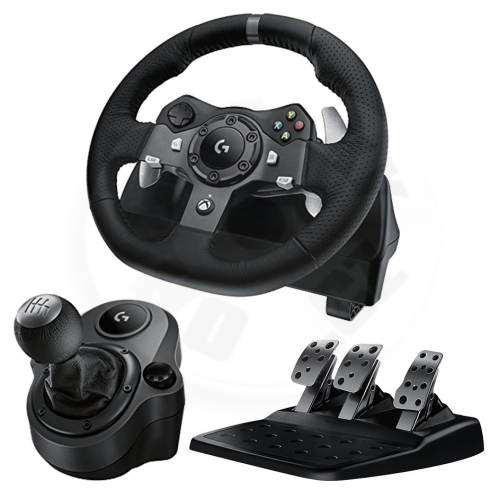 Logitech G920 Driving Force + řadící páka (PC/Xbox One)