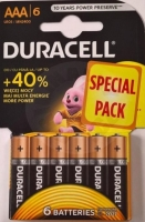 Duracell BASIC AAA, 6ks, 1.5V - blistr