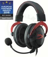 HyperX Cloud II - červená (PC/PS4/XONE)