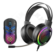 Marvo - Set of gaming headset and mouse MH01BK