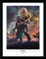 Magic the Gathering Framed Poster - Ajani, Strength of the Pride