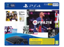 Sony Playstation 4 Slim 500 GB Fifa 21 bundle with additional Dualshock 4