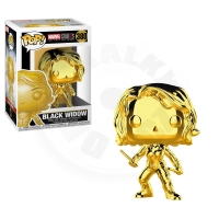 Funko POP Bobble Marvel: MS 10: Black Widow (Chrome)