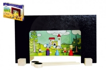 Detoa Magnetic Wooden Castle Theater with figures in a box 33.5x20x3.5cm