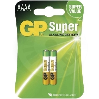 GP Super Alkaline Battery 25A, 2ks