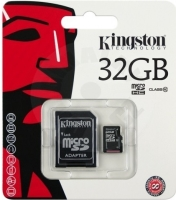 Kingston 32 GB micro SDHC Class 10 Memory card + adapter