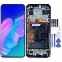 Huawei original LCD and touch layer + frame + battery for P40 lite E - black