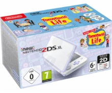 New 2DS XL Console White/Lavander + Tomodachi Life