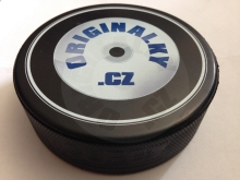 Gift for NHL 20 hockey puck with the company logo