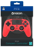 Nacon Wired Compact Controller - red (PS4)