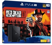 Sony PlayStation 4 Pro 1 TB Red Dead Redemption 2 bundle