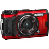 Olympus - Tough TG-6 12.0-Megapixel Water-Resistant Digital Camera - červená