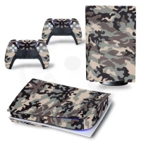 Vinyl cover (stickers) for console -camouflage (PS5)