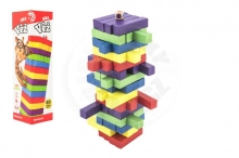 Bonaparte Game wooden tower 60 pcs of colored pieces board game puzzle in a box 7,5x27,5x7