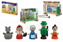 Detoa Red Riding Hood Theater magnetic wooden with figures in a box 34x23x3cm