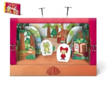 Bonaparte Fairytale paper puppet theater with a curtain of 6 figures in a box 34x23x4cm