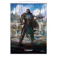 Magic: The Gathering Stained Glass Wall Scroll - Gideon