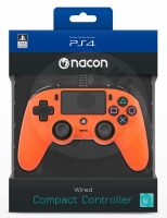 Nacon Wired Compact Controller - oranžová (PS4)