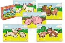 Teddies Puzzle My first animals wooden 18 pieces for the smallest in a box 13x11,5x4,5cm 1