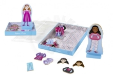 Lowlands Magnetic dressing Doll wood 32pcs in a box 22x30x2,5cm