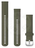 Garmin replacement band 20mm - green / silver