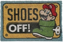 Mario Shoes Off Door Mat